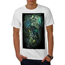 Wellcoda Dragon Thunder Mens T-shirt, Fantasy Graphic Design Printed Tee