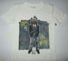 NWT GAP Kids Boys School of SK8 Knocks Nerd Bear Graphic T-Shirt UPick Size! NEW