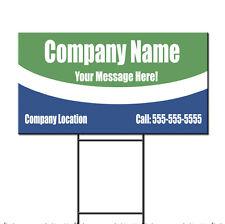 Custom Company Custom Message Address Phone Plastic Yard Sign /FREE Stakes
