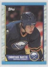 1989-90 Topps #68 Christian Ruuttu Buffalo Sabres Hockey Card
