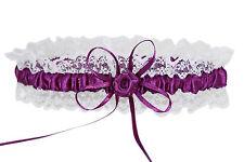 HBH Brautmoden Strumpfband mit einer Schleife und einer Rose: in diversen Farben