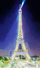 POSTER XXL POP ART EIFELTURM ABSTRAKT PARIS FRANKREICH GRAFFITI POSTER -90x150