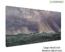 British Canvas S2 ArtB John Brett A North West Gale Off The Longships Lighthous