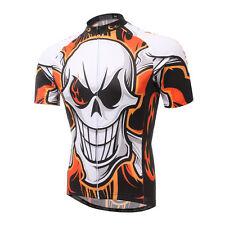 Short Sleeve Men Cycling Jerseys Skull Bicycle Biking Jerseys Sportswear Jacket