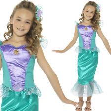 ragazze Sirena Vestito Costume bambini fiabe Film Book Week Smiffys 48003