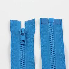 BLUE 10'' - 32'' INCH CHUNKY NO.5 OPEN END ZIPS *12 SIZES* PLASTIC ZIPPER NZ1216