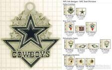 NFL team logo decorative fobs (NFC East), various designs & keychain options
