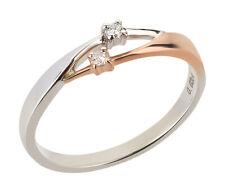 Goldring 375 Gold Ring Diamant Brillant Verlobungsring Rosegold Weißgold bicolor