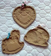 Brown Bag Cookie Art Ceramic Gingerbread Mold Press: Wedding HEART, HORSE BUNNY