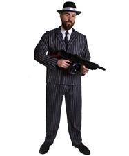 MENS  GANGSTER COSTUME HAT SPIV MOUSTACHE AND TOMMY GUN 1920'S FANCY DRESS