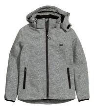 H&M Softshelljacke / Funktionsjacke  Gr. 134 - 170 grau meliert *NEU!*