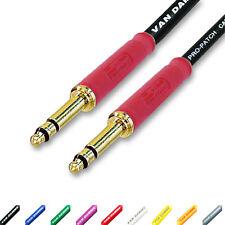 Neutrik Bantam Jack Patch Lead. Balanced TRS 4.4mm TT Plugs. Van Damme Cables