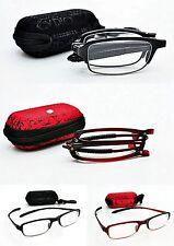 Tr90, pieghevole curvabile Occhiali da lettura comprende Case & Borgogna o Nero rg51