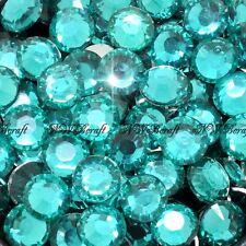 Teal 1000pcs Resin RhinestonesBeads Flat Back Diamante Nail Art Craft Gems