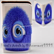For Google Pixel 2 XL Nexus 6P - Blue Fluffy Print Flip Wallet Phone Case Cover
