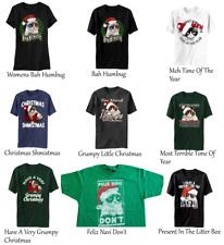 Grumpy Cat Christmas T-Shirts (Choose Your Design) Cats Mad Sad Holiday