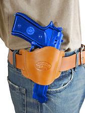 New Barsony Tan Leather Gun Quick Slide Holster Ruger Star Full Size 9mm 40 45