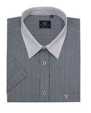 Cotton Valley Smart Fine Striped Shirt With White Collar (14331),Size 2XL-8XL