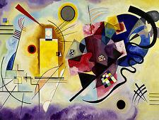 QUADRO PANNELLO IN LEGNO MDF - Wassily Kandinsky Yellow, Red & Blue