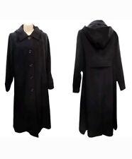 Women's New Winter Warm Wool mix Hooded Faux Fur Long Coat UK Make 14 to 24