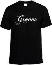 Groom - Mens Unisex Wedding Party Tee Novelty T-Shirt - Great Gift Idea