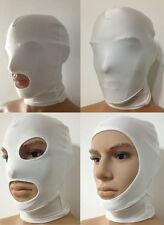 Halloween party lycra spandex zentai costume white Mask/Hood