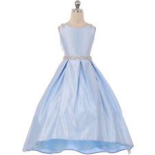 BLUE Flower Girl Dress Birthday Dance Formal Recital Birthday Graduation Gown