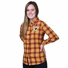 FOCO NFL Women's Washington Redskins 2016 Wordmark Basic Flannel Shirt