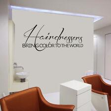 Hairdressers Wall Decal Hair Salon Beauty Quote Vinyl Barber Shop Door Art Decor