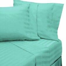 1000 Count Egyptian Cotton Aqua Striped Extra Deep Pocket Bedding Item