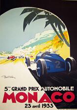 "AV21 Vintage 1933 Monaco Grand Prix Motor Racing Advertisment Poster A3 17""x12"""