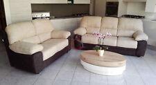 divano imbottito 2 posti e 3 posti in NABUK ecopelle pelle salotto divani