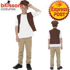 CK955 Boys Victorian Urchin Fancy Kids Book Week Oliver Dodger Dickens Costume