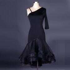 Ballroom Women's Dancewear Salsa Cha Cha Samba Leopard Latin Dance Dresses L050
