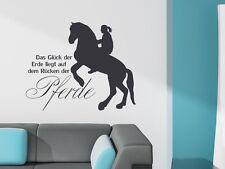 Tattoo Wandtattoo Aufkleber Design für Kinderzimmer Das Glück Spruch Pferd