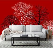 3D Rouge Cèdre 17 Photo Papier Peint en Autocollant Murale Plafond Chambre Art