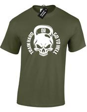 Entrenar duro o ir al infierno para hombre Top Camiseta Gimnasia Entreno Crossfit culturista