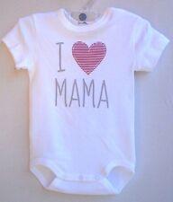 "SANETTA Baby-Body 1/2 Arm weiss ""  I liebe Mama ""  Gr. 56 - 86  UVP  11,95 €"