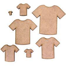 T Shirt Craft Shape Blank, Various Sizes, 2mm MDF. Football, Sports, Soccer