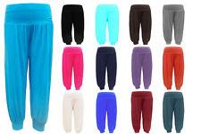 Girls Kids Dance Full Length Plain Harem Hareem Trousers Pants Legging Age 2-13
