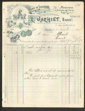 "PARIS (III°) COMMERCE de MERCERIE ""L. JACHIET"" en 1907"