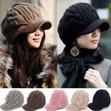 83a81b0c72793 US! Korean Women Knit Peaked Beanie Hat Crochet Winter Warm Ski Wool Cap  Fashion