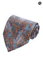 Ermenegildo Zegna Pristine Mens Designer 100% Italian Silk Floral Fountains Tie