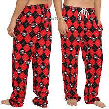 HARLEY QUINN Diamond Print UNISEX Pajama Lounge SLEEP PANTS DC COMICS S & M NEW