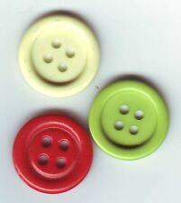 6 BOUTONS NEUFS * 18 mm * 4 trous * couleur au choix