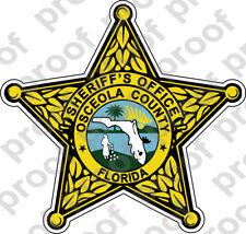 STICKER SHERIFF OSCEOLA COUNTY