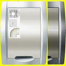 Saugdose Premium EVO Weiß Silber Elfenbein Set`s 1 - 5fach, Zentralstaubsauger