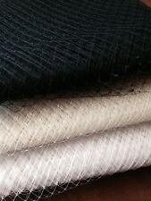 Merry Widow Hat Veiling 30cm x 50cm BLACK,NAVY,IVORY,WHITE