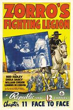 Zorro's fighting legion Reed Hadley movie poster