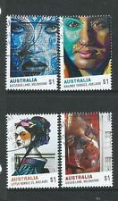 AUSTRALIA 2017 STREET ART SET OF 4 FINE USED